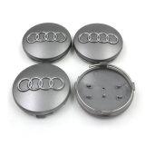 Les chapeaux de roue noir gris Centre 60mm pour Audi A3 A4 A6 A8 tt les chapeaux de moyeu de roue des jantes de voiture de couvercle d'un insigne de l'emblème0601170 4b, 4B0 601 170