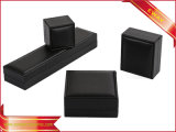Contenitore di regalo di carta nero dell'imballaggio del braccialetto dell'anello dei contenitori di imballaggio dei monili