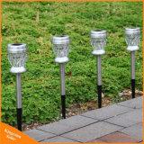 LED en acier inoxydable lumière solaire pour l'extérieur et de la Cour d'éclairage de jardin