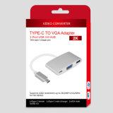 1 포트 USB3.0 허브를 가진 VGA 접합기에 USB 3.1 유형 C
