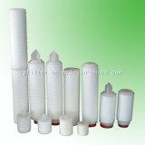 Cartucho de filtro plisado Pes de la membrana de Polyethersulfone de 10 pulgadas a de 40 pulgadas para el uso médico