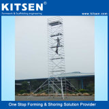 쉬운 조정가능한 알루미늄 비계 탑 시스템을 설치하십시오