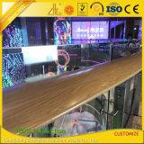 Profils en aluminium de balustrade et de barrière d'extrusion des graines en bois pour la décoration
