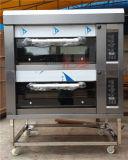 Heavy Duty 2 couches 4 plateaux de cuisine commercial de l'équipement de cuisson électrique (ZMC-204D)