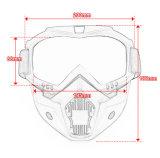 Glaces détachables vent de motocross et masque de lunettes de moto d'épreuve de la poussière