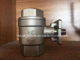 316 / 304 / ISO5211 Wcb Ss Pad atornillada 2PC Válvula de bola