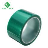 El poliéster resistente al calor de Pet de cinta de silicona de color verde para recubrimiento de polvo