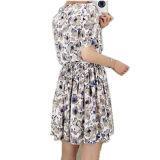 Vestito pieghettato casuale dal reticolo di fiore delle signore di Customed
