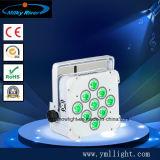 СИД Plat батарея Uplight РАВЕНСТВА RGBWA 5in1 РАВЕНСТВА светлая 10W 9PCS СИД плоская