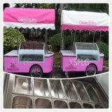 Carrello del gelato di schiocco per la barra/carrello italiano del gelato