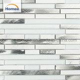 Schönes Entwurfs-Ziegelstein-Küche Backsplash Glas-Aluminiummosaik