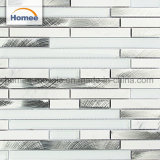 Beau design en aluminium dosseret de cuisine de brique mosaïque de verre