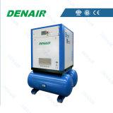 compresseur électrique de vis de refroidissement à l'air 37kw avec le réservoir d'air