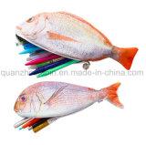OEM de Kunstmatige Zak van het Geval van het Potlood van de Kantoorbehoeften van Vissen