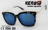 Квадратной рамой солнечные очки с тонкими металлическими храмов Kp70391