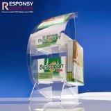 Contre- premier présentoir acrylique de médecine utilisé pour l'exposition