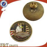 Venta caliente modificada para requisitos particulares alrededor del Pin barato de la solapa de la divisa del esmalte