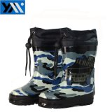 Camo текстильной печати втулку детей из натурального каучука высокого качества Rainboots Wellingtons новый дизайн Wellies обувь для детей обувь для мальчиков