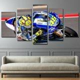 Beelden van de Motorfiets van het Frame van de Affiche van de Kunst van de Muur van het canvas de HD Afgedrukte Moderne 5 het Schilderen van Moto van het Ras Stukken van het Decor van het Huis voor Woonkamer