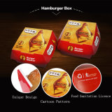 Kraft 종이 인쇄한 햄버거 포장 상자는 서류상 햄버거 상자를 나른다