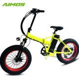 La grasa de la montaña de neumáticos bicicleta eléctrica con batería de asiento