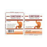 Cimetidine Tablets 400mg, 20's/OEM волдыря/коробки