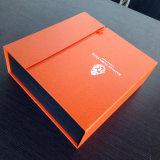 Caixa de presente cosmética cinzenta luxuoso personalizada do papel de placa com impressão de Specialpaper