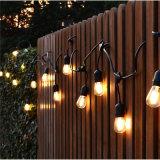 12PCS LEDのフィラメントの球根が付いているIP65 S14ストリングライト7.5m