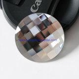 O Ab colore os Gemstones de cristal da parte traseira lisa da estaca da rede da forma redonda