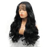 Парик волос теплостойкfGs черноты объемной волны Glueless волосяного покрова волос естественной длинней синтетический