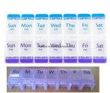플라스틱 누름단추식 전쟁 7 일 주간 약 소형 환약 상자