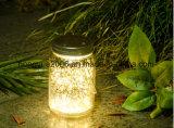 Lámpara solar material de cristal de la venta 2018 de la nueva del diseño lámpara solar caliente LED del jardín