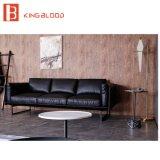 Projetos ajustados do sofá de couro de Italy do modelo novo para a sala de visitas com retratos
