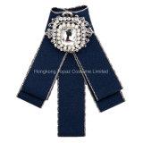 女性の水晶Boutonniereの花の結婚披露宴(J03)のための長いJabotの首のCravatのブローチPinのちょうネクタイの方法ちょうネクタイ