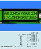 Stn LCD Baugruppe Stce 16201 ohne Hintergrundbeleuchtung