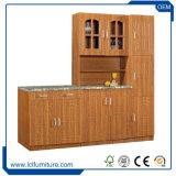 現代積層モジュラー木の食器棚5のドアPVCプリント食器棚