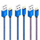 Оригинал 8Контакт нейлоновые молнии оплеткой для кабеля USB