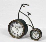 Reloj moderno del metal del estilo de la bicicleta para la decoración casera