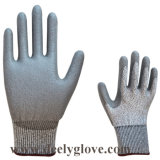 Черное покрытие ладони PU на перчатках 4343 уровня 3 отрезока вкладыша Hppe серых