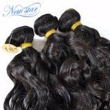 Пачки человеческих волос Unprocessed верхней волны ранга малайзийской естественной Weft
