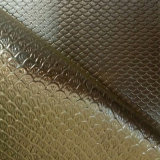 Couro metálico do plutônio da alta qualidade para os sacos e as sapatas (HSK120)