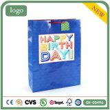 Одежда дня рождения голубая обувает мешки подарка сувенира супермаркета бумажные