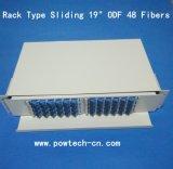 De Vezel Optical&#160 van het Type van rek; Adapters van het Type van Sc van de Vezels Box/ODF 48 van het metaal de Eind