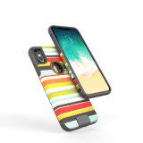 Мягкий для тяжелого режима работы телефона TPU чехол для iPhone 8 с полосой ткани