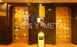 Acciaio inossidabile decorativo, portello dell'elevatore, baracca