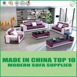 現代木の本物の部門別のソファの革ソファーベッド