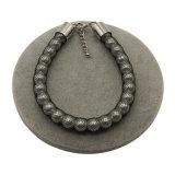 Pulsera de perlas de imitación de envoltura de encaje