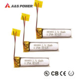 UL nachladbare 3.7V 110mAh Li-Polymer-Plastik Batterie