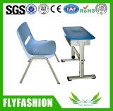Barato Mobiliário escolar único Ajustável Secretária com cadeira (SF-36S)