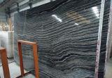 黒い木製の静脈の大理石の平板のタイル